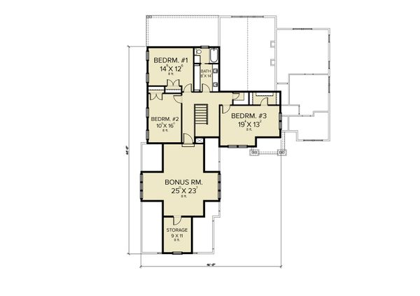 Farmhouse Floor Plan - Upper Floor Plan #1070-119