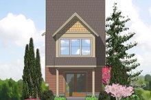 Cottage Exterior - Rear Elevation Plan #48-570