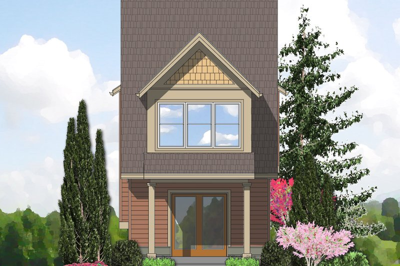 Cottage Exterior - Rear Elevation Plan #48-570 - Houseplans.com