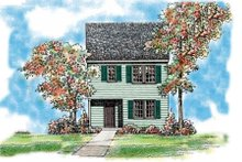 Colonial Exterior - Front Elevation Plan #72-476
