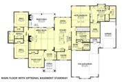 Farmhouse Style House Plan - 3 Beds 2.5 Baths 2920 Sq/Ft Plan #430-185
