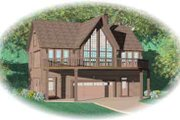 Traditional Style House Plan - 2 Beds 2 Baths 1851 Sq/Ft Plan #81-502