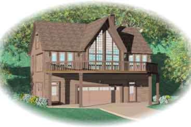 Traditional Style House Plan - 2 Beds 2 Baths 1851 Sq/Ft Plan #81-502 Exterior - Front Elevation