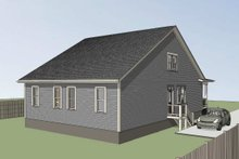 Home Plan - Cottage Exterior - Rear Elevation Plan #79-241