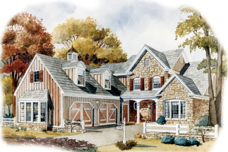 Country Exterior - Front Elevation Plan #429-34 - Houseplans.com
