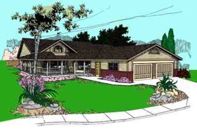 Traditional Exterior - Front Elevation Plan #60-637 - Houseplans.com