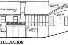 Home Plan Design - Traditional Exterior - Rear Elevation Plan #56-161