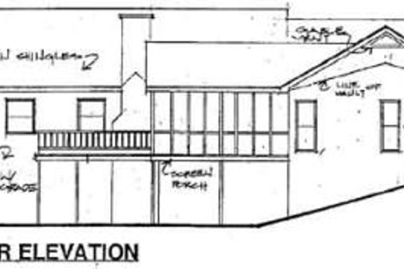 Traditional Exterior - Rear Elevation Plan #56-161 - Houseplans.com