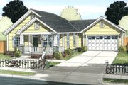 Cottage Style House Plan - 2 Beds 2 Baths 1147 Sq/Ft Plan #513-2083 Exterior - Front Elevation