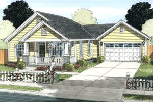 Dream House Plan - Cottage Exterior - Front Elevation Plan #513-2083