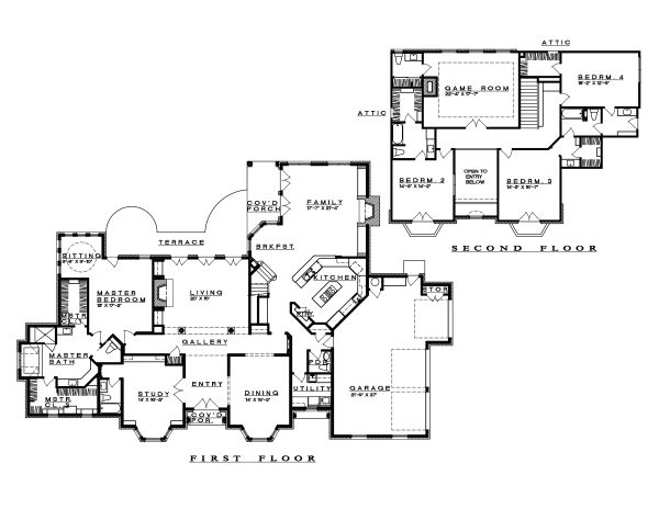 Traditional Floor Plan - Main Floor Plan Plan #935-16