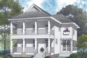 Colonial Style House Plan - 3 Beds 2.5 Baths 1950 Sq/Ft Plan #453-1 Exterior - Front Elevation