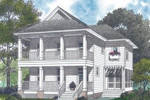 Home Plan - Colonial Exterior - Front Elevation Plan #453-1