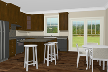 House Plan Design - Craftsman Interior - Kitchen Plan #44-225