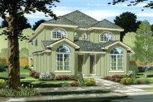 Dream House Plan - Colonial Exterior - Front Elevation Plan #126-228