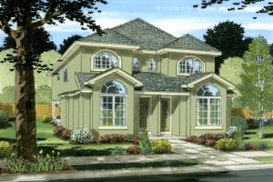 House Plan Design - Colonial Exterior - Front Elevation Plan #126-228