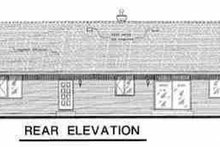 Ranch Exterior - Rear Elevation Plan #18-1035