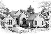European Style House Plan - 4 Beds 2 Baths 2271 Sq/Ft Plan #10-103 Exterior - Front Elevation