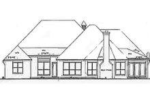 House Plan Design - European Exterior - Rear Elevation Plan #52-121