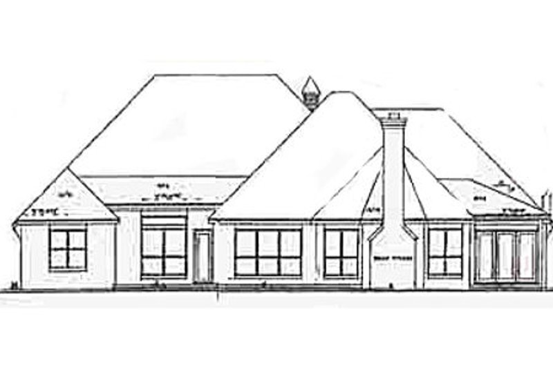 European Exterior - Rear Elevation Plan #52-121 - Houseplans.com