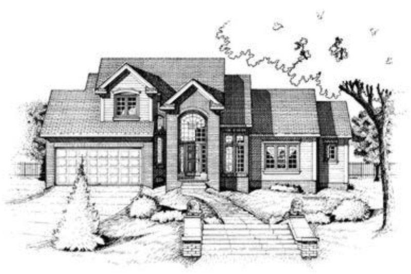 Dream House Plan - European Exterior - Front Elevation Plan #20-430