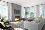 Contemporary Style House Plan - 4 Beds 3 Baths 2808 Sq/Ft Plan #23-2314 Interior - Family Room