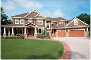 Traditional Style House Plan - 5 Beds 3.5 Baths 4171 Sq/Ft Plan #51-326 Exterior - Front Elevation