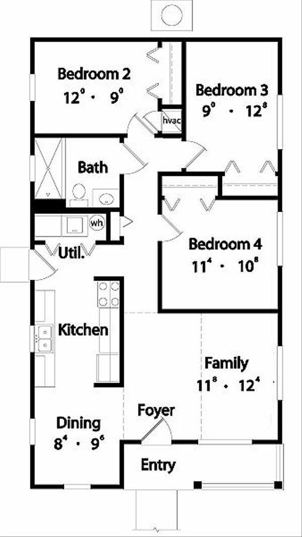 Traditional Floor Plan - Main Floor Plan Plan #417-103