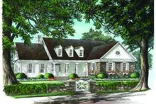 Dream House Plan - Traditional Exterior - Front Elevation Plan #137-213