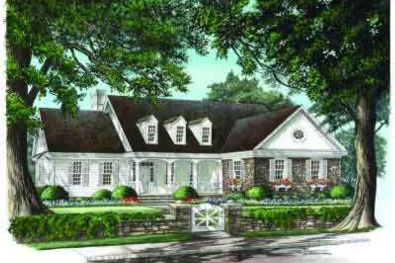 Traditional Exterior - Front Elevation Plan #137-213 - Houseplans.com