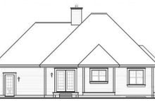Dream House Plan - Cottage Exterior - Rear Elevation Plan #23-2209