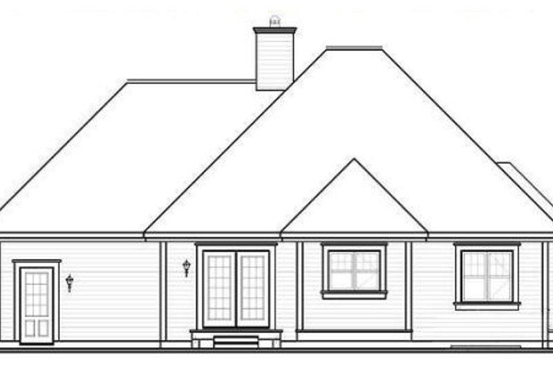 Cottage Exterior - Rear Elevation Plan #23-2209 - Houseplans.com