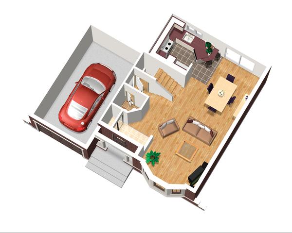 Traditional Floor Plan - Main Floor Plan Plan #25-4470