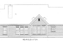 Dream House Plan - Victorian Exterior - Rear Elevation Plan #410-210