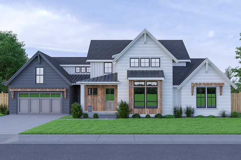 Farmhouse Style House Plan - 3 Beds 2.5 Baths 1974 Sq/Ft Plan #1070-34 Exterior - Front Elevation