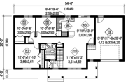 Country Style House Plan - 3 Beds 1 Baths 992 Sq/Ft Plan #25-4461 Floor Plan - Main Floor Plan