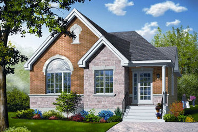 Dream House Plan - Traditional Exterior - Front Elevation Plan #23-797