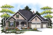 European Style House Plan - 2 Beds 2 Baths 1829 Sq/Ft Plan #70-866 Exterior - Front Elevation