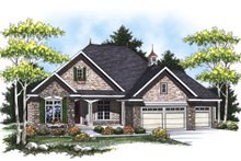 Home Plan - European Exterior - Front Elevation Plan #70-866