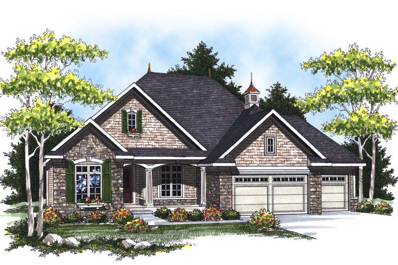 Dream House Plan - European Exterior - Front Elevation Plan #70-866