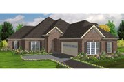 European Style House Plan - 4 Beds 4 Baths 2670 Sq/Ft Plan #63-216 Exterior - Front Elevation