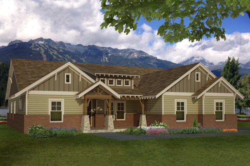 Dream House Plan - Craftsman Exterior - Front Elevation Plan #932-4