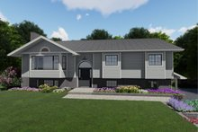 Colonial Exterior - Front Elevation Plan #126-214
