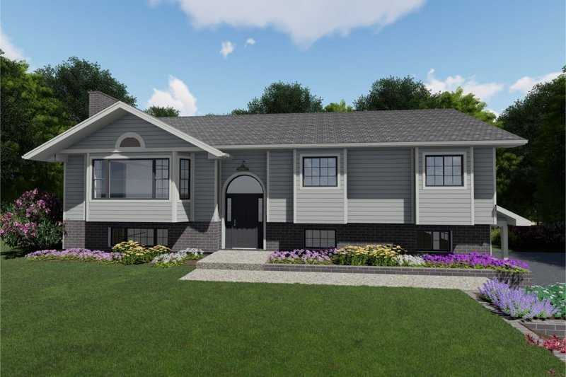 Architectural House Design - Colonial Exterior - Front Elevation Plan #126-214