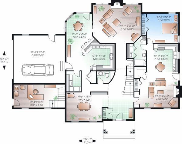 Colonial Floor Plan - Main Floor Plan Plan #23-724