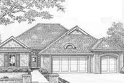 Traditional Style House Plan - 3 Beds 2 Baths 1710 Sq/Ft Plan #310-294 Exterior - Front Elevation