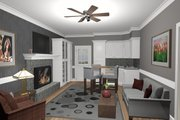 Cottage Style House Plan - 1 Beds 1 Baths 514 Sq/Ft Plan #56-715 Interior - Other
