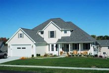 Dream House Plan - Traditional Exterior - Front Elevation Plan #20-680