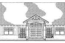 Cottage Exterior - Rear Elevation Plan #72-128