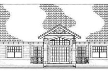 Dream House Plan - Cottage Exterior - Rear Elevation Plan #72-128